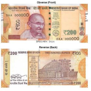 Color and Details of India New Notes – Bankers India